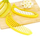 2PCs Banana Perfect Practical Slicer Cutter Kitchen Tool Fast Free Shipping