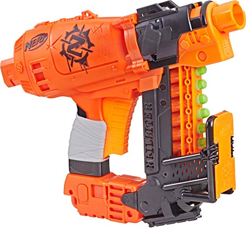Nailbiter Nerf Zombie Strike Toy Blaster - 8 Official Nerf Zombie Strike Elite Darts, 8-Dart Indexing Clip - Survival System - For Kids, Teens, Adults