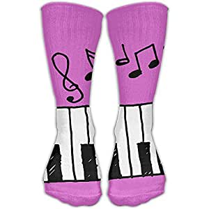 Sports Socks Piano Music Icon Hand Draw Design Elastic Long Socks Compression Socks ( 30cm )