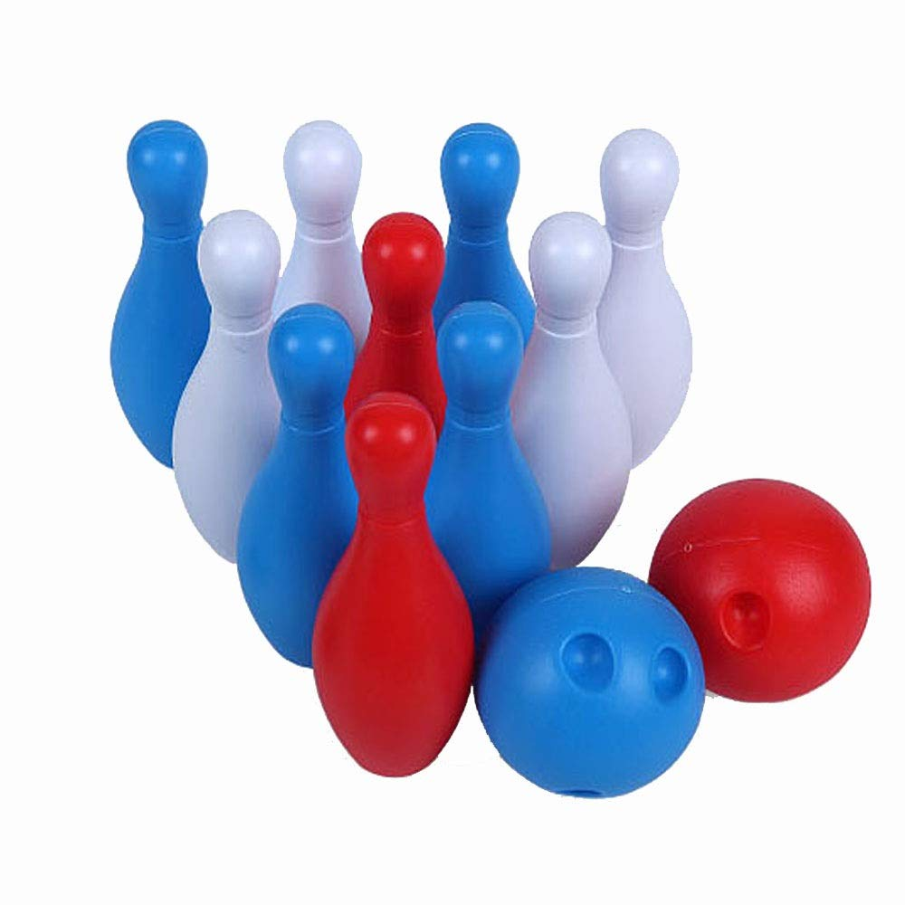 KMCMYBANG Bowling Toy Soft Bowling Set for Kids - 12-Piece Game with Colorful Numbered Pins - Flexible Toy for Indoor Kids Bowling Toys (Color, Size : 14cm) by KMCMYBANG