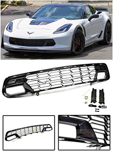 Extreme Online Store EOS Z06 Performance Package Style Painted Carbon Flash Metallic Front Bumper Lower Grille for 2014-Present Chevrolet Corvette C7 All Models with Front Camera ()