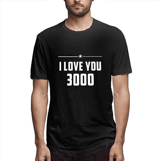 7b0b228a Amazon.com: YOMXL Men's Graphic Tee - I Love You 3000 - Casual Summer Short  Sleeve Top Blouse Plain Lightweight T-Shirt: Clothing