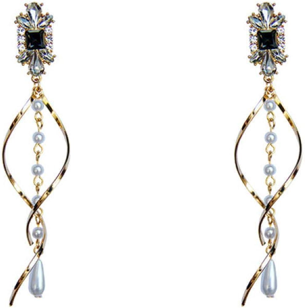 925 Pendientes De Agujas De Plata, Cristal De Primera Calidad De Cristal De Piedras Preciosas, Borla De Perlas, Pendientes De Joyería De Las Mujeres