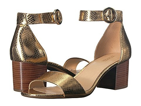 MICHAEL Michael Kors Lena Dress Sandals Metallic Gold (7)