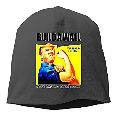 Donald Trump Rosie The Riveter 2016 Build A Wall Tuke Wool Beanie Hat Knit Cap Black