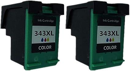 Cartuchos de Tinta remanufacturados para HP 343 XL HP343 PSC 1500 ...