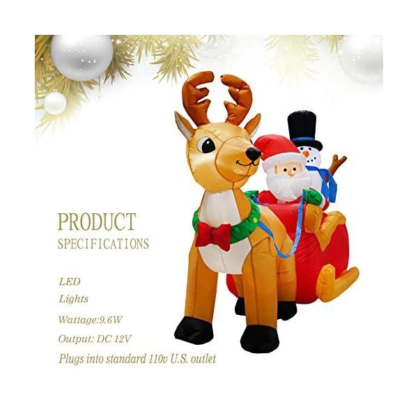 PARAYOYO - Babbo Natale gonfiabile con renna e pupazzo di neve per decorazioni natalizie 3 spesavip