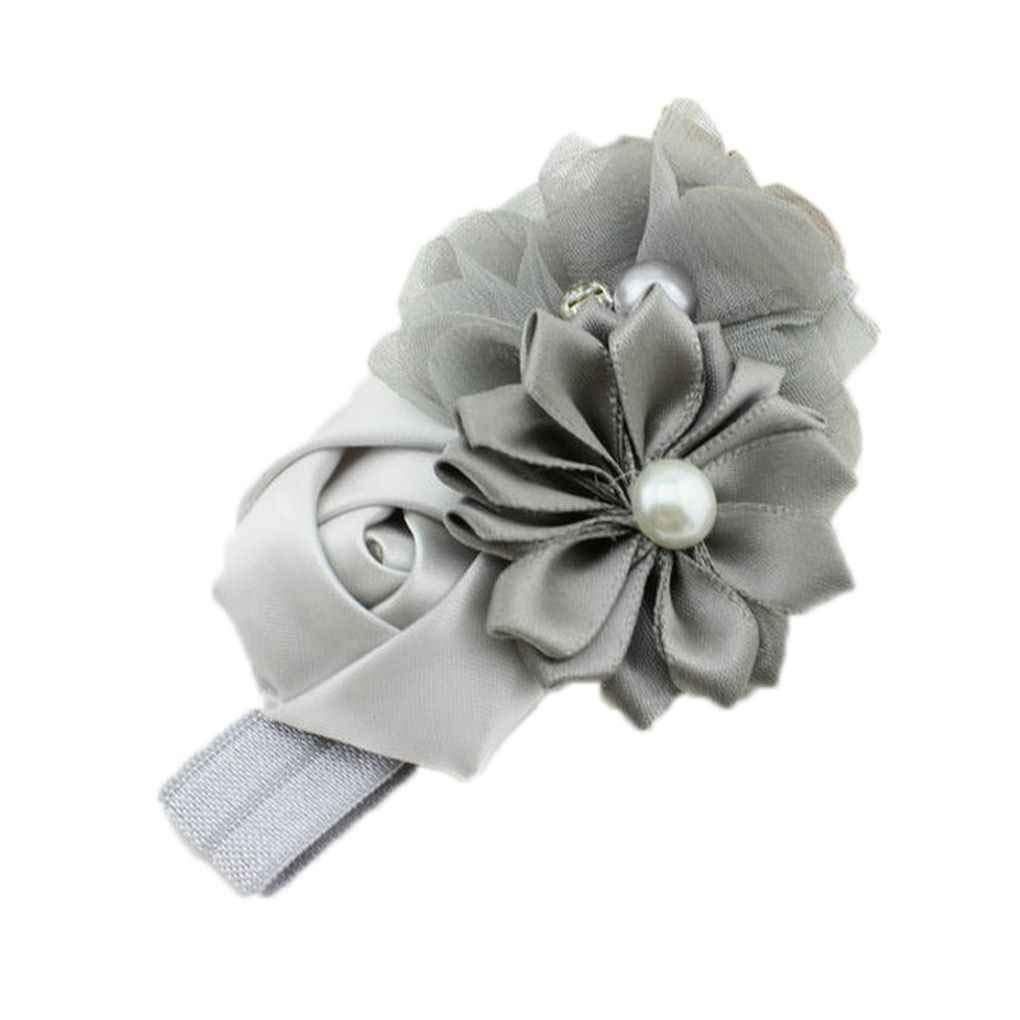 fgyhtyjuu Fiore Banda dei Capelli della neonata Perla Headwear per 3-36 Mesi