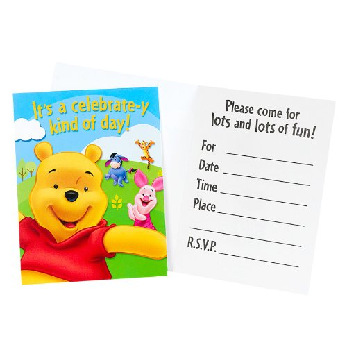 Pooh and Friends Invitations - 8 per -