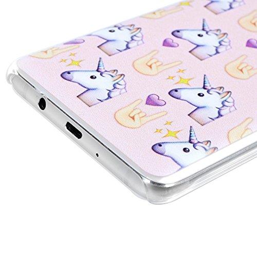 MAXFE.CO Painted TPU Silikon Tasche Hülle Schutzhülle Etui für iPhone 5S/ 5 Case Crystal Durchsichtig Klar Transparent-Farbe Blätter Muster Design