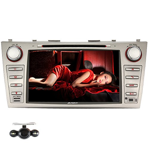 Pumpkin 8 inch Double 2 Din In Dash DVD VCD MP3 CD Player GPS Navigation Bluetooth Radio Receiver HD Touchscreen Car Stereo for Toyota Camry/Aurion 2007-2011 with 8GB Kudos Map Card and Backup Camera (Electronic Tunner compare prices)