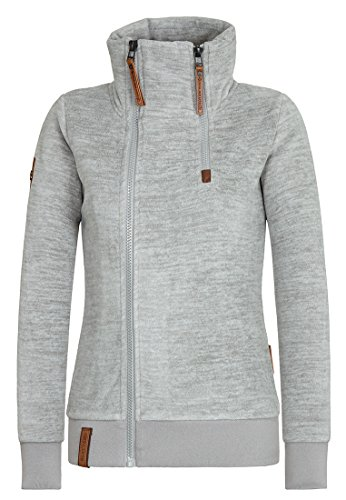 85494abfb461 Naketano Female Zipped Jacket Hamza Bau Ma J Grey Melange 11XGQ1d8 ...
