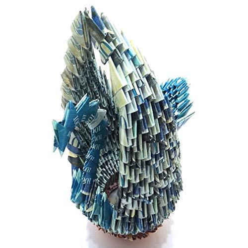 - GSC Moda Handmade Origami 3D Swan Bolivares Venezuela Sculpture Art