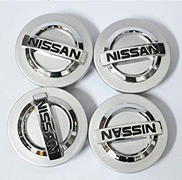 Tripoint® 4 Pcs 60mm Wheel Center Caps Hubcaps For Nissan Aeolus Primera Altima MICRA NOTE QASHQAI