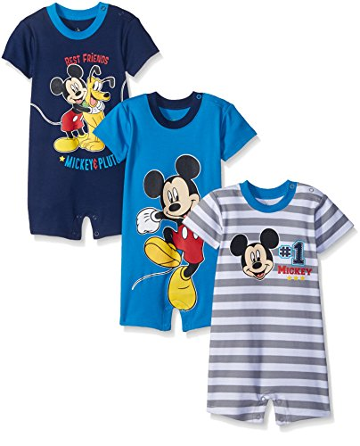 Disney Baby Boys Mickey Rompers