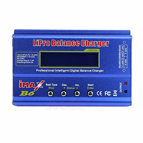 - iMAX B6 LCD Screen Digital RC Li-po NiMh Li-on Battery Charger Discharge Balance Charger Tester With T and XT60 Cable