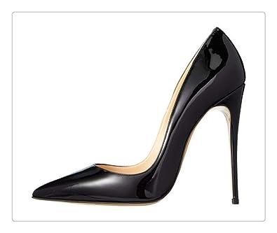 3388c82e2ee Amazon.com: ZXCVB& 2018 Shoes Woman High Heels Wedding Shoes Black ...