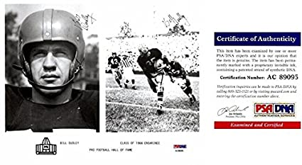86449352a Signed Bill Dudley Picture - 8x10 TWICE Deceased 2010 Certificate of  Authenticity COA) - PSA