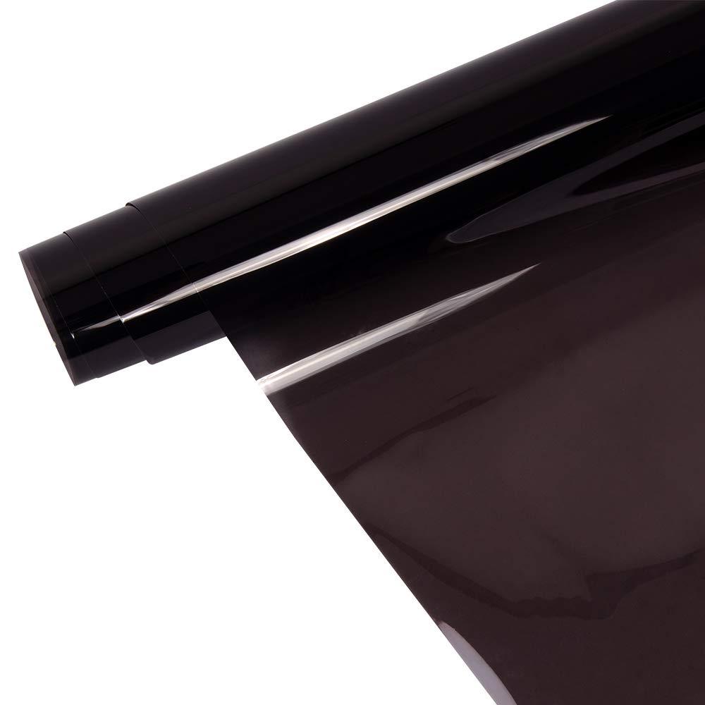Dark Brown Good Privacy Protection Sun Shade Window Tint Vinyl Film Glue Tinted Solar Tint 20in x60in