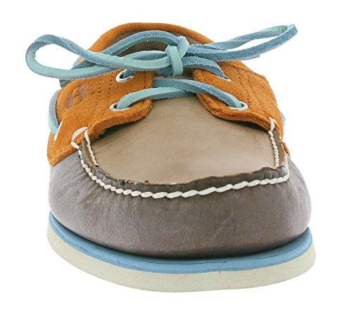 Timberland Classic 2-Eye Zapatos en barco para hombre de Brown A16KN