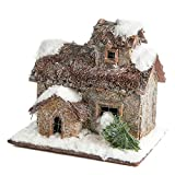 Factory Direct Craft Lightweight Paper Mache Woodland Rustic Cabin Display for Holiday Decor, Gifting and Displaying