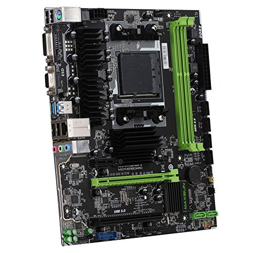 KKmoon MAXSUN MS-A970FX Turbo Computer Gaming Motherboard Desktop Mainboard Systemboard for AMD A970 AM3/AM3+ Socket SATA3.0 6Gb/s USB 3.0 DDR3 (Am3 Micro Atx Motherboard)