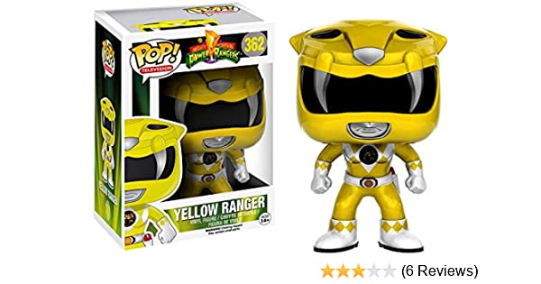 9439940c74d Amazon.com  Funko Pop! Television Mighty Morphin Power Rangers Yellow Ranger   362 (Metallic Exclusive)  Toys   Games