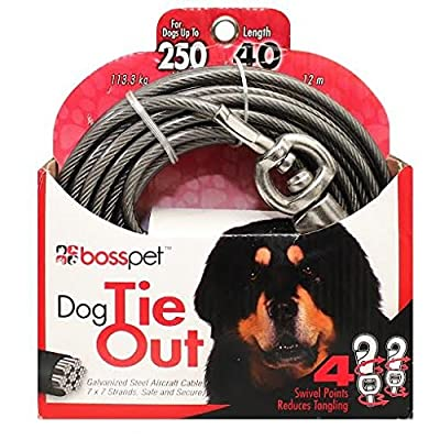 Tie Out Super Beast 40ft by Boss Pet