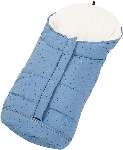 Blu Sacco Pelo Impermeabile Antivento Mantiene Caldo per Passeggino Invernale Confortevole Bambino per Carrozzina Termico Fodera in Velluto Ripiegabile