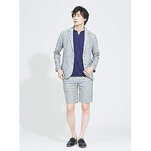 (アバハウス) ABAHOUSE ジャケット・スーツ 【展開店舗限定】【セットアップ対応】ランダムパイルジャケット メンズ ライトグレー 50(XL)