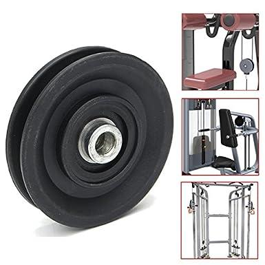 RENCALO 90mm Nylon Cuscinetto puleggia Ruota 3.5 Cavo Palestra Attrezzatura Fitness Parte Parti per auto Trazione e trasmissione