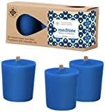 Root Scented Seeking Balance Meditate Votive Candles, Vetyver and Olibanum, Box of 3