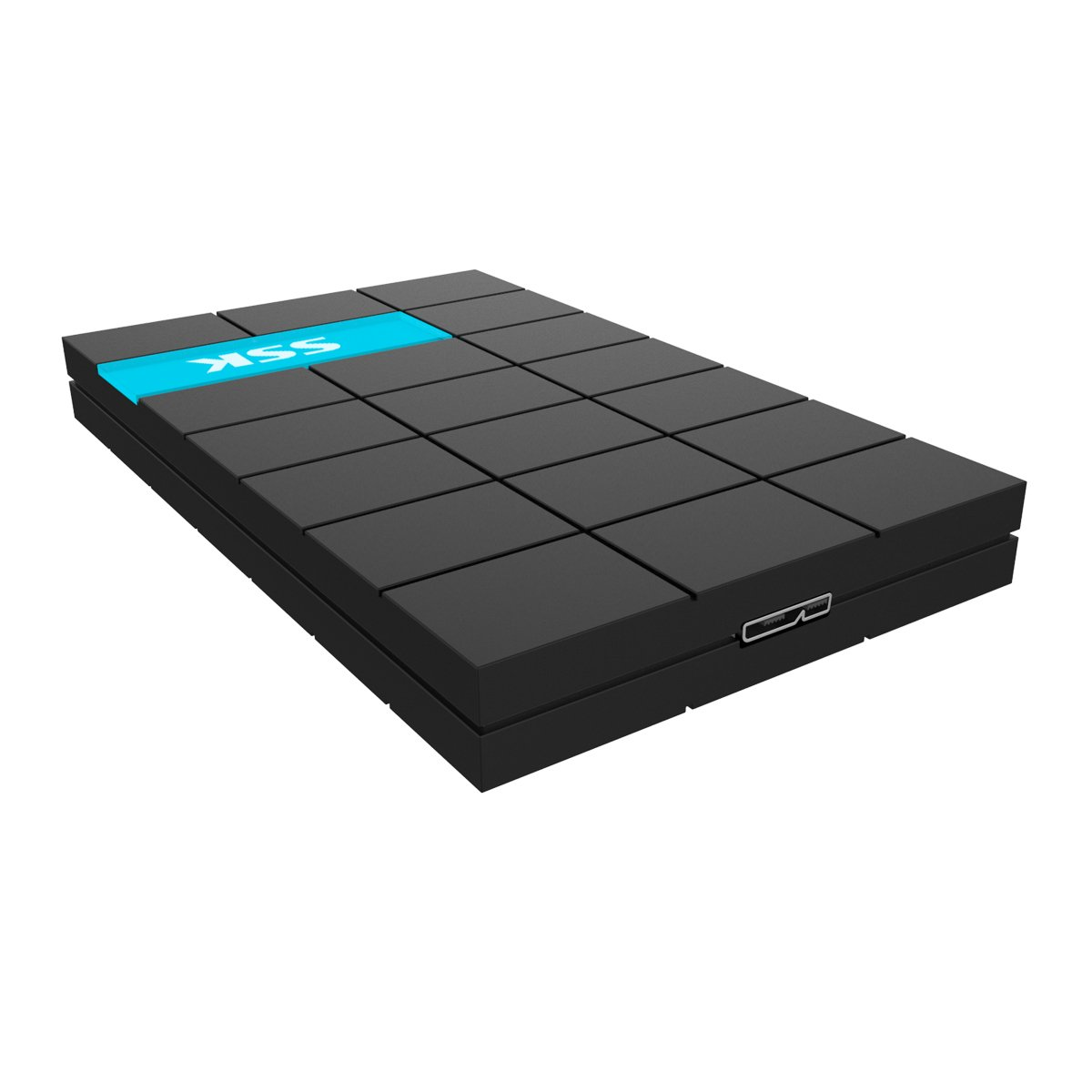 SSK SHE080 Portable USB 3.0 SATA Hard Drive Disk External Enclosure For 9.5mm 7mm 2.5'' HDD And SSD (Black) by SSK (Image #3)