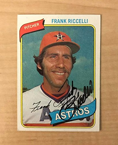 FRANK RICCELLI HOUSTON ASTROS SIGNED AUTOGRAPHED 1980 TOPPS CARD #247 (1980 Topps Card Photo)
