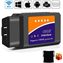 OBD2 Scanner, kungfuren [2018 NEW] Code Reader Car diagnostic Tool Compatible With IOS, Android & Windows Devices Connects Via WiFi For Cars