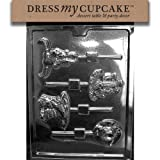 Dress My Cupcake DMCK128 Chocolate Candy Mold, Western Theme Lollipops