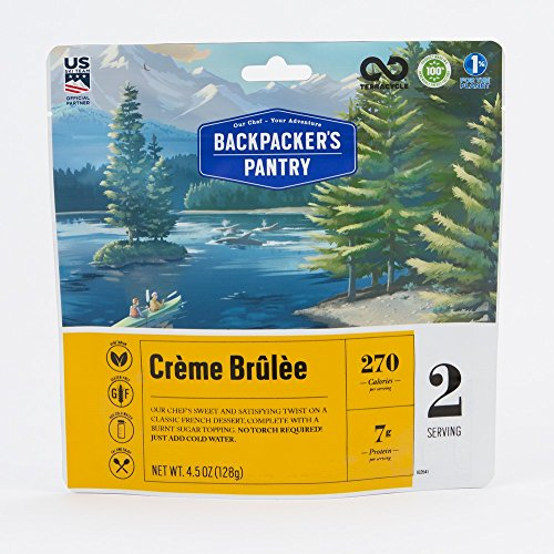 Backpacker's Pantry Creme Brulee, 2 Servings Per Pouch, Freeze Dried Food, 7 Grams of Protein, Vegetarian, Gluten Free (Best Fast Food Under 5 Dollars)