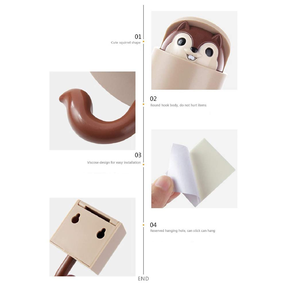 Ao Tuo 2 UNIDS Creatividad Extendida Squirrel Hook Coat ...