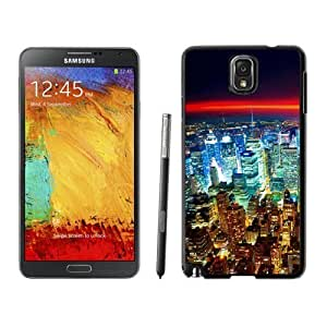 NEW Unique Custom Designed For Case Samsung Galaxy S4 I9500 Cover Phone Case With Seattle Night City Lights Red Horizon_Black Phone Case
