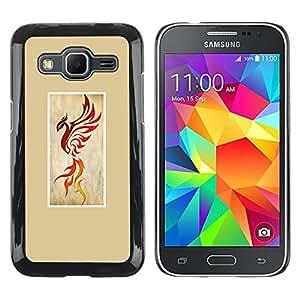 Paccase / SLIM PC / Aliminium Casa Carcasa Funda Case Cover para - phoenix fire bird dragon yellow poster - Samsung Galaxy Core Prime SM-G360