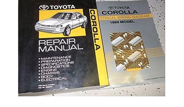 1999 TOYOTA COROLLA Service Repair Shop Manual Set W Wiring ... on