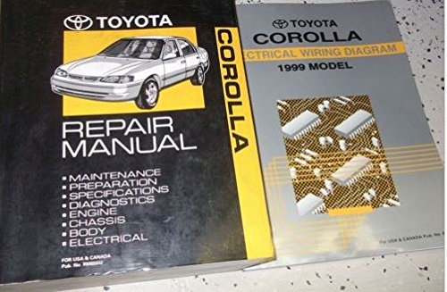 1999 Toyota Corolla Service Repair Shop Manual Set W Wiring Diagram Ewd Oem Toyota Amazon Com Books