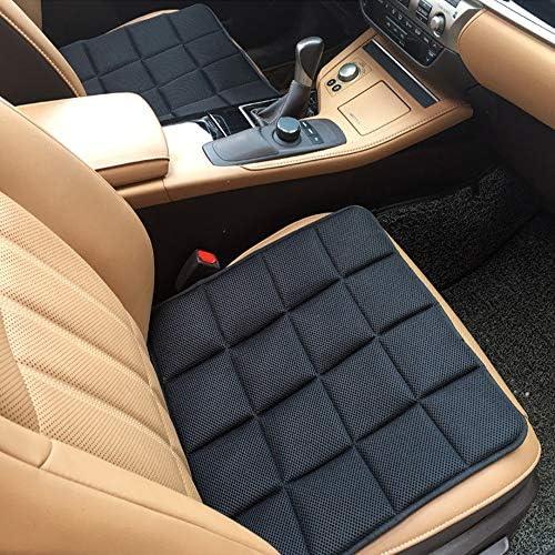 車用シングルクッション 通気性 備長炭消臭クッション シートクッション マット 脱とても簡単 滑り止め ブラック 疲れ解消