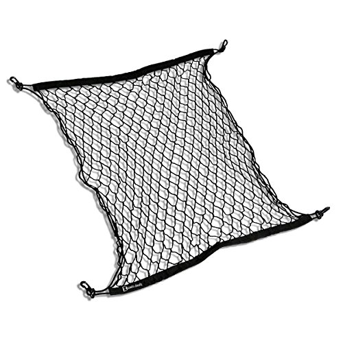 Zento Deals 4 Hook Universal Trunk Cargo Net Mesh Storage Organizer for SUVs