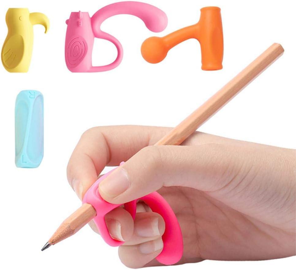 SNIIA 4PCS Postura De Escritura para L/ápices Herramienta De Correcci/ón Ayuda De Escritura para Ni/ños En Edad Preescolar Ni/ños Necesidades Especiales para Zurdos Y Diestros workable