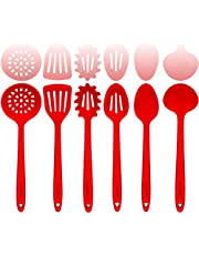Silicone and Steel Cooking Utensil Sets