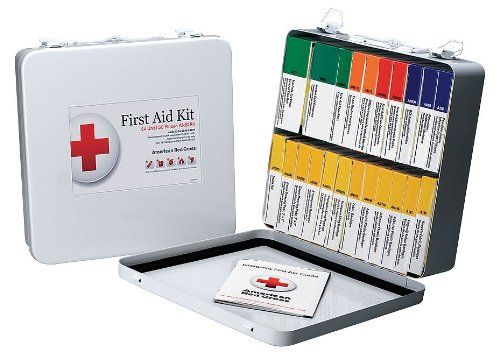 American Red Cross First Aid Kit, Kit, Metal Case Materia...