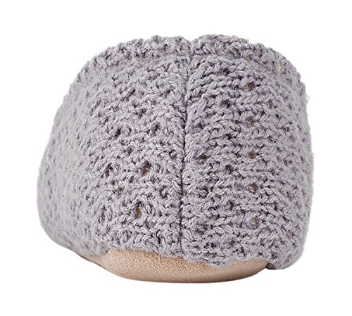 MIXIN Woolen Slippers Elegant Women's Grey Sole Ballerina Indoor and Comfortable Soft Knitted nfvnS