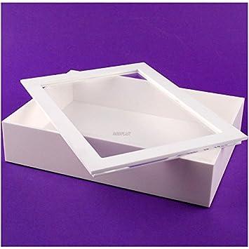 Faberplast FB1149 - Caja metacrilato, color blanco: Amazon.es: Oficina y papelería