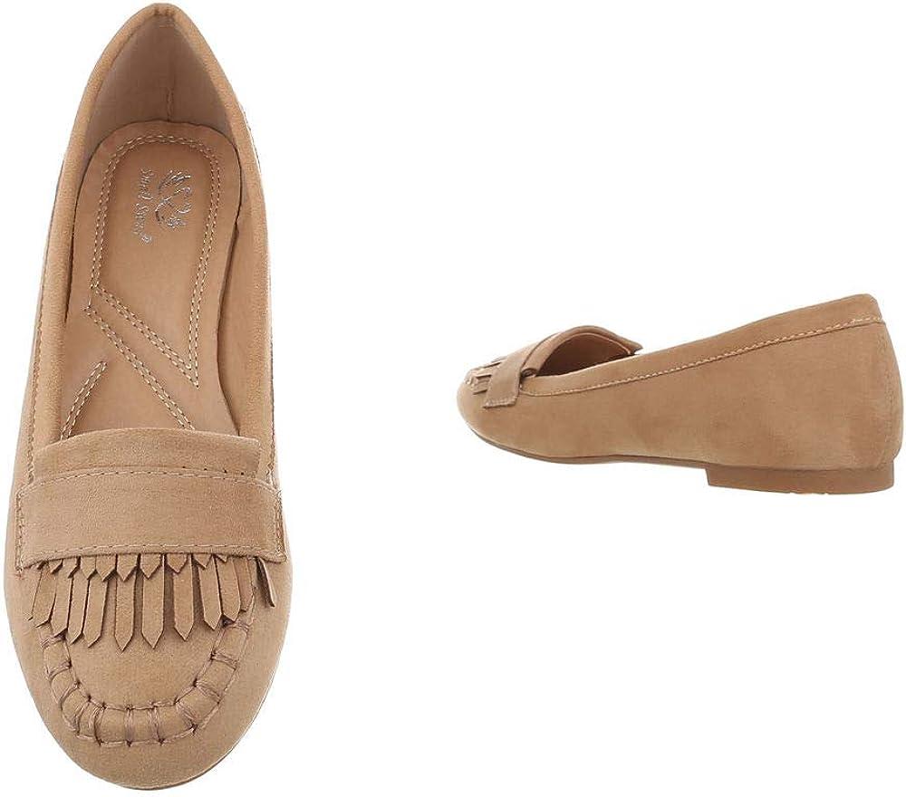 Ital-Design Damenschuhe Halbschuhe Slipper